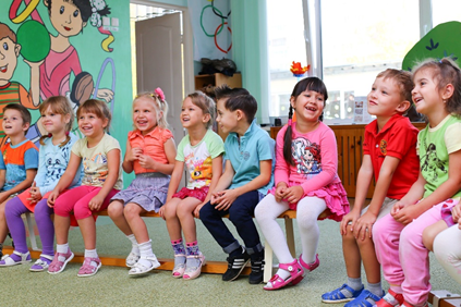 School kids in a row: Did you know that 1 out of 5 children suffer from a vision disorder that may lead to amblyopia?